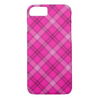 かわいらしいピンクの格子縞 iPhone 8/7ケース