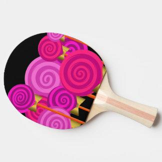 かわいらしいピンクの棒つきキャンデーキャンデーの世界の卓球ラケット 卓球ラケット