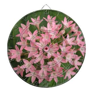 かわいらしいピンクの熱帯花の投げ矢板 ダーツボード