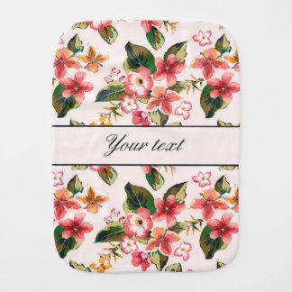 かわいらしいピンクの熱帯花模様 バープクロス