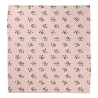 かわいらしいピンクの花のバンダナ バンダナ