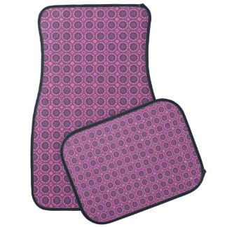 かわいらしいピンクの花パターン カーマット