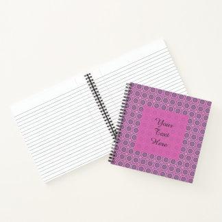 かわいらしいピンクの花パターン ノートブック
