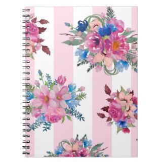 かわいらしいピンクの花柄 ノートブック