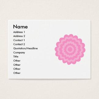 かわいらしいピンクの花。 白い背景 名刺