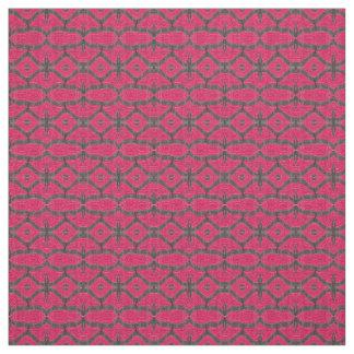 かわいらしいピンクの黒いパターン ファブリック