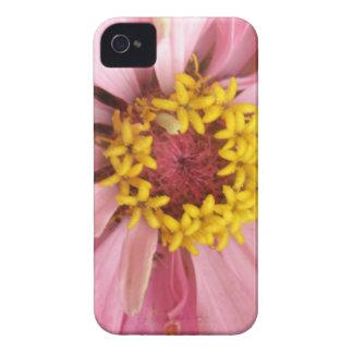 かわいらしいピンクの《植物》百日草のブラックベリーのはっきりしたな箱 Case-Mate iPhone 4 ケース