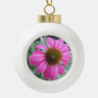 かわいらしいピンクのConeflower セラミックボールオーナメント