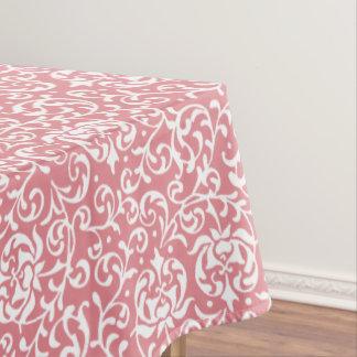 かわいらしいピンクのTudorは花のダマスク織庭いじりをします テーブルクロス