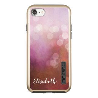 かわいらしいピンクは名前入りな《写真》ぼけ味のグリッターを印刷しました INCIPIO DualPro SHINE iPhone 8/7ケース