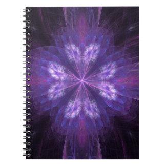かわいらしいフラクタルの蝶花の形 ノートブック