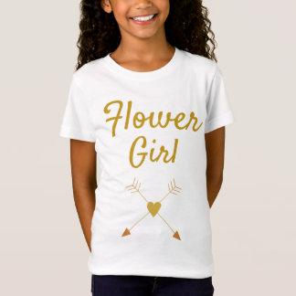 かわいらしいフラワー・ガール Tシャツ