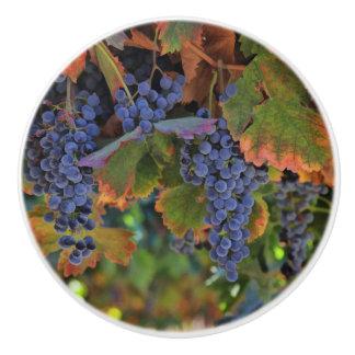 かわいらしいブドウ園のワインの里のノブおよび引き セラミックノブ