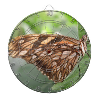 かわいらしいブラウンの蝶投げ矢板 ダーツボード