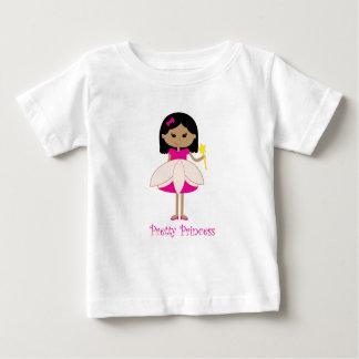 かわいらしいブルネットのプリンセス ベビーTシャツ