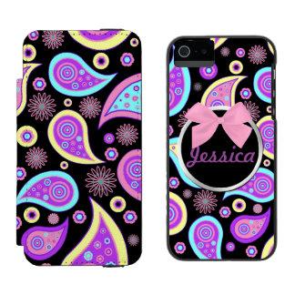 かわいらしいペイズリーのiPhone 5のウォレットケース Incipio Watson™ iPhone 5 財布 ケース