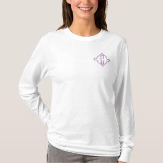 かわいらしいモノグラムCはカスタマイズTシャツを-刺繍しました 刺繍入り長袖Tシャツ