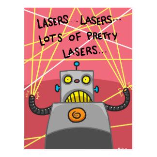 かわいらしいレーザー ポストカード