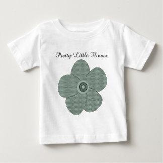 かわいらしいヴィンテージのスタイルのパターン(の模様が)あるなアネモネのパステル ベビーTシャツ