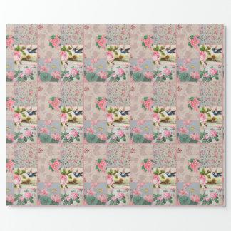 かわいらしいヴィンテージの壁紙のピンクの包装紙 ラッピングペーパー