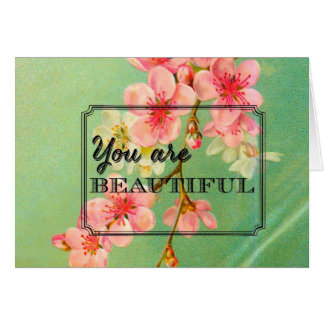 かわいらしいヴィンテージの桜カード カード