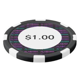 かわいらしい三色のアラバマ ポーカーチップ