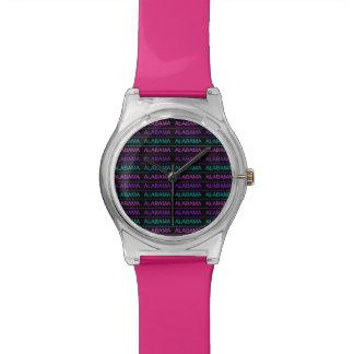 かわいらしい三色のアラバマ 腕時計