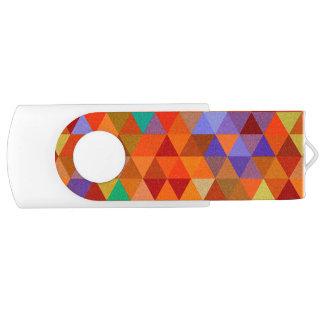 かわいらしい三角形のグランジなパターンI + あなたのアイディア USBフラッシュドライブ