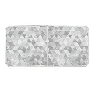 かわいらしい三角形のグランジなパターンII + あなたのアイディア ビアポンテーブル