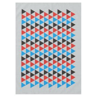 かわいらしい三角形パターン黒の赤い青 + あなたのアイディア テーブルクロス