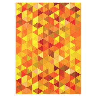 かわいらしい三角形パターンI + あなたのアイディア テーブルクロス