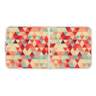 かわいらしい三角形パターンII + あなたのアイディア ビアポンテーブル