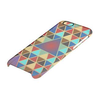 かわいらしい三角形パターンIII + あなたのアイディア クリアiPhone 6/6Sケース