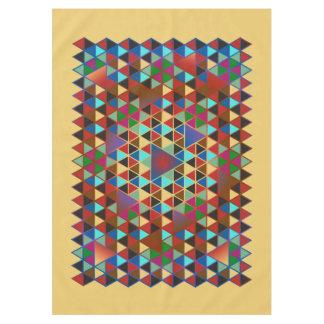 かわいらしい三角形パターンIII + あなたのアイディア テーブルクロス