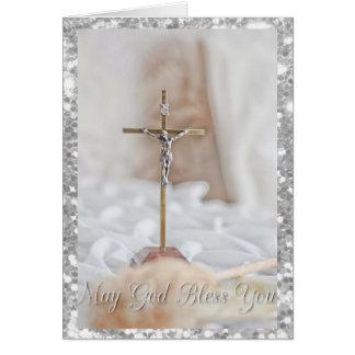 かわいらしい十字の宗教クリスマスカード カード