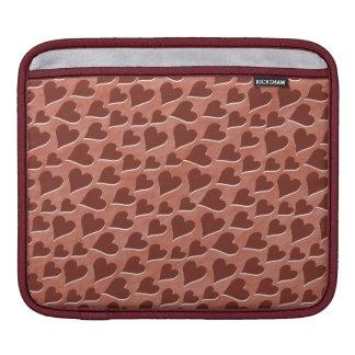 かわいらしい埋め込まれた赤いハートパターンピンク iPadスリーブ