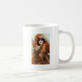 かわいらしい女性のフラッパーのファッションの20年代 コーヒーマグカップ