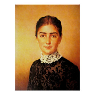 かわいらしい女性のポートレート ポスター