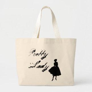 かわいらしい女性 ラージトートバッグ