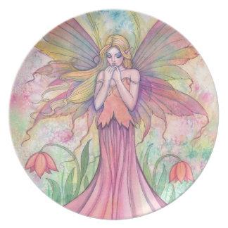 かわいらしい妖精の装飾的なプレート プレート