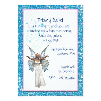 かわいらしい妖精の誕生日のパーティの招待状 カード