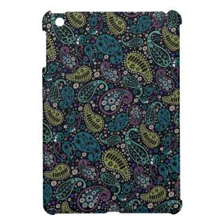 かわいらしい孔雀色のペイズリーのパターン(の模様が)あるな場合 iPad MINIカバー