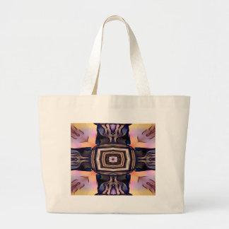 かわいらしい対称のコラム ラージトートバッグ