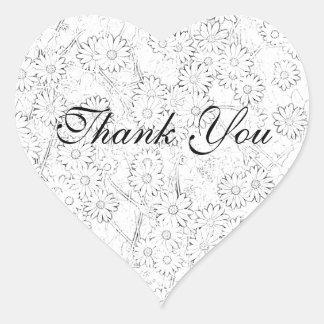 かわいらしい岬のデイジーは感謝していしています ハートシール