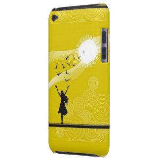 かわいらしい日光を楽しんでいる女の子が付いている黄色い箱 Case-Mate iPod TOUCH ケース