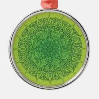 かわいらしい東洋の緑のデザイン メタルオーナメント