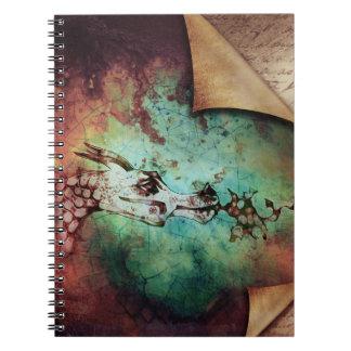 かわいらしい水彩画の火の呼吸のドラゴンのファンタジー ノートブック
