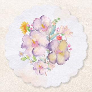 かわいらしい水彩画の花束(1)すべての選択 ペーパーコースター