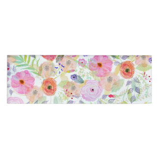 かわいらしい水彩画手のペンキの抽象芸術の花柄 名札