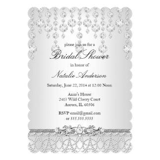 かわいらしい水晶ブライダルシャワーの招待状 12.7 X 17.8 インビテーションカード